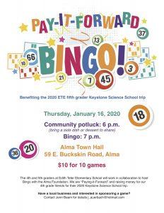 BINGO! - Benefits Keystone Science School Fund @ Alma Town Hall (North Room)
